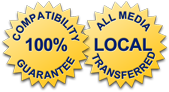 Compatibility Guarantee - All Media Transferred Local